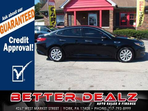 2016 Kia Optima for sale at Better Dealz Auto Sales & Finance in York PA