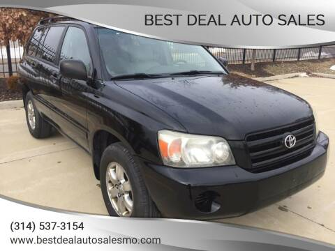 2005 Toyota Highlander for sale at Best Deal Auto Sales in Saint Charles MO