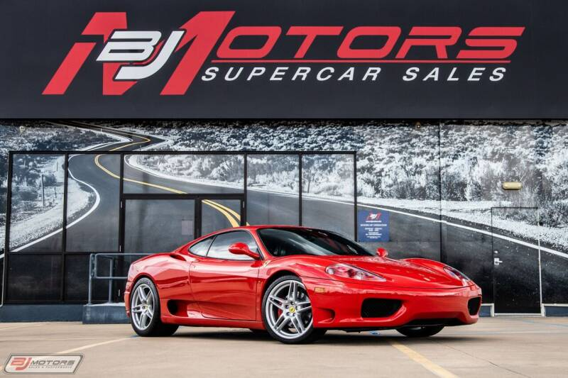 2003 Ferrari 360 Modena for sale at BJ Motors in Tomball TX