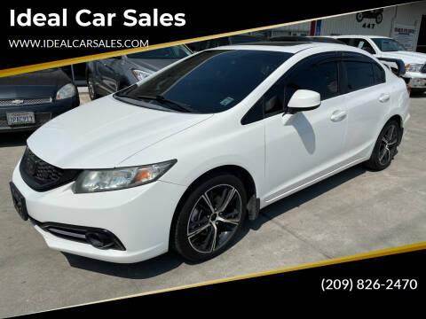 2013 Honda Civic for sale at Ideal Car Sales in Los Banos CA