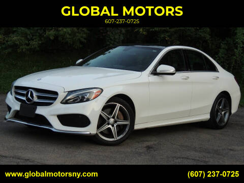 2015 Mercedes-Benz C-Class for sale at GLOBAL MOTORS in Binghamton NY