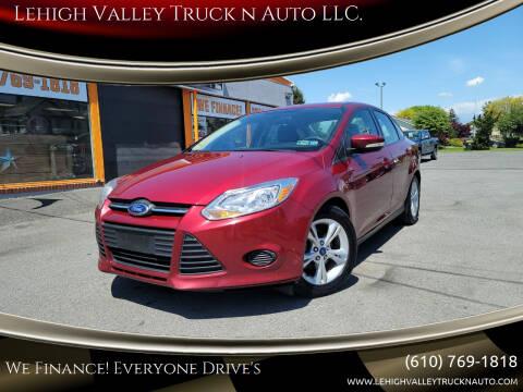 2014 Ford Focus for sale at Lehigh Valley Truck n Auto LLC. in Schnecksville PA