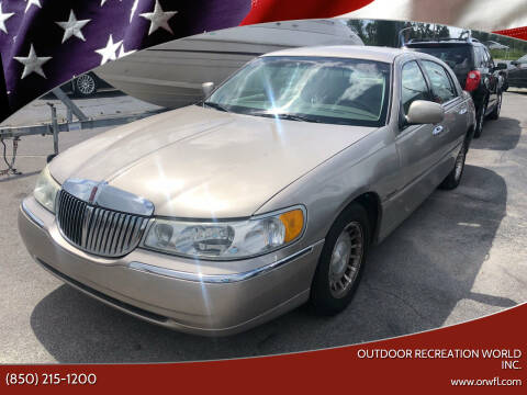 2002 Lincoln Town Car for sale at Outdoor Recreation World Inc. in Panama City FL