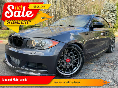 2008 BMW 1 Series for sale at Mudarri Motorsports in Kirkland WA