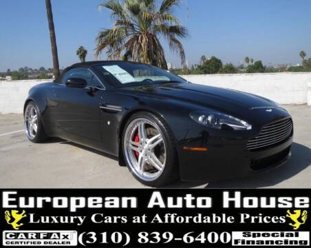 2008 Aston Martin V8 Vantage for sale at European Auto House in Los Angeles CA