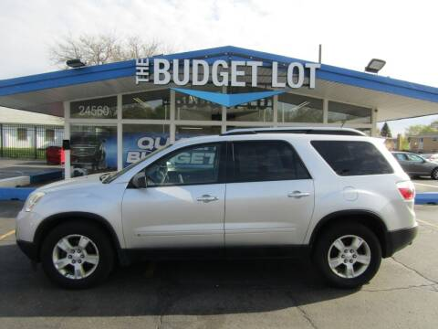 2010 GMC Acadia for sale at THE BUDGET LOT in Detroit MI
