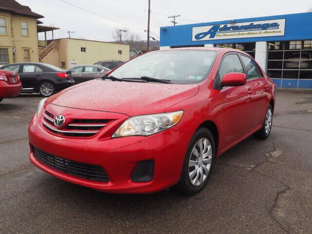 2013 Toyota Corolla for sale at Advantage Auto Sales in Wheeling WV