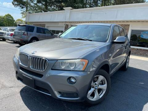2011 BMW X3 for sale at North Georgia Auto Brokers in Snellville GA