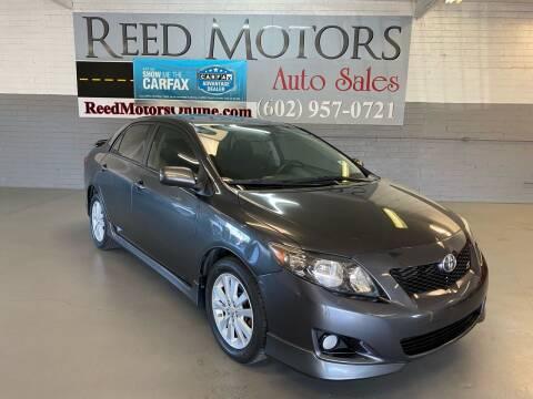 2010 Toyota Corolla for sale at REED MOTORS LLC in Phoenix AZ