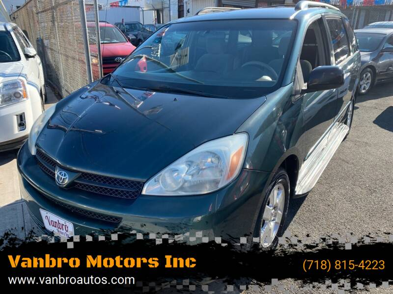 2004 Toyota Sienna for sale at Vanbro Motors Inc in Staten Island NY