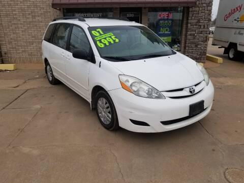 2007 Toyota Sienna for sale at NORTHWEST MOTORS in Enid OK