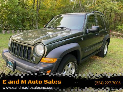 2006 Jeep Liberty for sale at E and M Auto Sales in Elgin IL