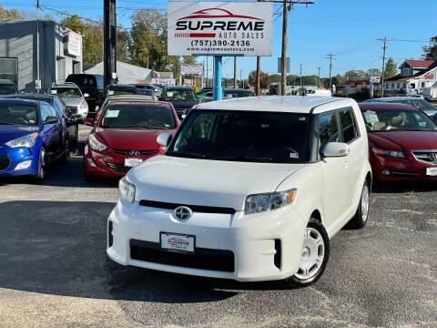 2012 Scion xB for sale at Supreme Auto Sales in Chesapeake VA