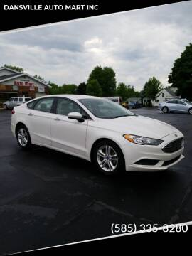 2018 Ford Fusion for sale at DANSVILLE AUTO MART INC in Dansville NY