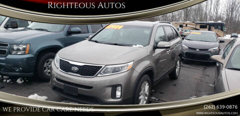 2015 Kia Sorento for sale at Righteous Autos in Racine WI