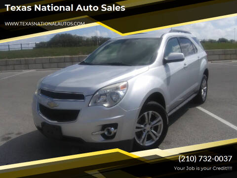 2013 Chevrolet Equinox for sale at Texas National Auto Sales in San Antonio TX