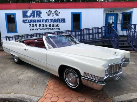 1970 Cadillac DeVille for sale at Kar Connection in Miami FL