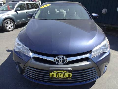 2017 Toyota Camry for sale at MOUNTAIN VIEW AUTO in Lyndonville VT