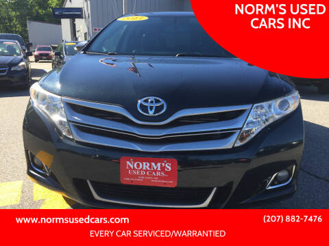 2013 Toyota Venza for sale at NORM'S USED CARS INC in Wiscasset ME