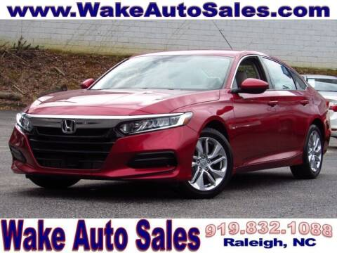 2019 Honda Accord for sale at Wake Auto Sales Inc in Raleigh NC