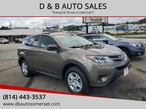 2014 Toyota RAV4 for sale at D & B AUTO SALES in Somerset PA