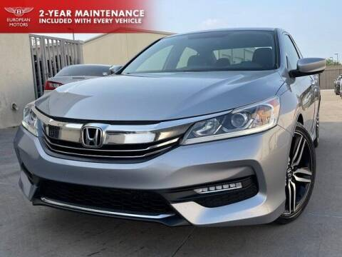 2016 Honda Accord for sale at European Motors Inc in Plano TX