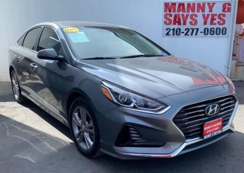2018 Hyundai Sonata for sale at Manny G Motors in San Antonio TX