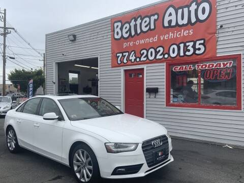 2013 Audi A4 for sale at Better Auto in Dartmouth MA