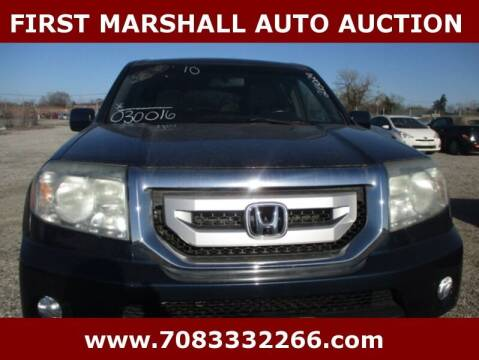2010 Honda Pilot for sale at First Marshall Auto Auction in Harvey IL