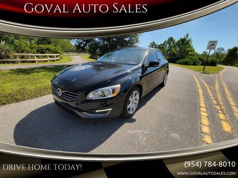 2014 Volvo S60 for sale at Goval Auto Sales in Pompano Beach FL