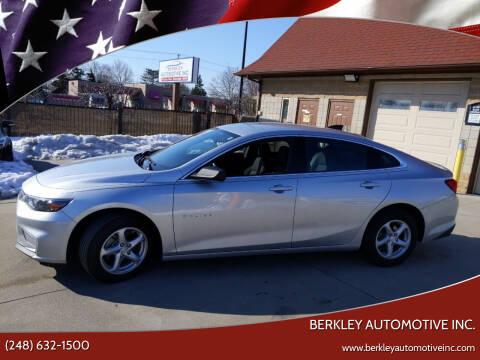 2018 Chevrolet Malibu for sale at Berkley Automotive Inc. in Berkley MI