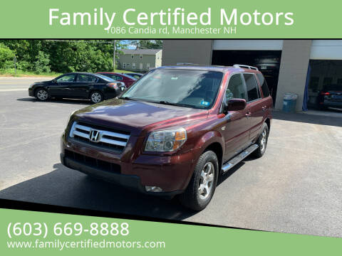 2008 Honda Pilot for sale at Family Certified Motors in Manchester NH