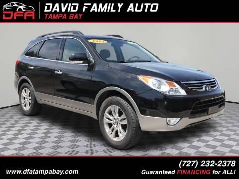 2012 Hyundai Veracruz for sale at David Family Auto in New Port Richey FL