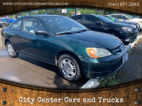 2001 Honda Civic for sale at City Center Cars and Trucks in Roseburg OR