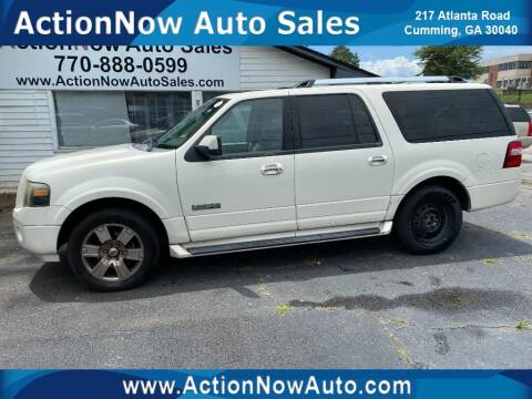 2008 Ford Expedition EL for sale at ACTION NOW AUTO SALES in Cumming GA