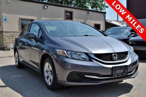 2015 Honda Civic for sale at LAKESIDE MOTORS, INC. in Sachse TX