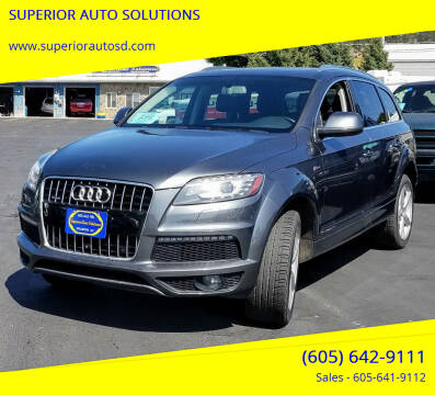 2015 Audi Q7 for sale at SUPERIOR AUTO SOLUTIONS in Spearfish SD