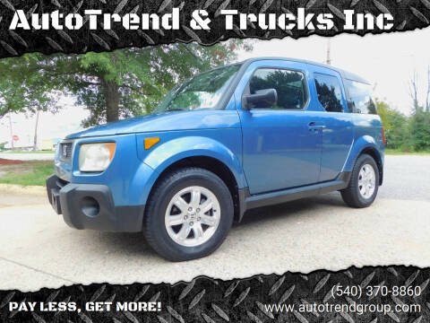 2006 Honda Element for sale at AutoTrend & Trucks Inc in Fredericksburg VA