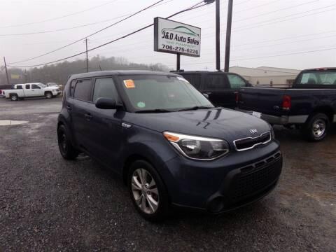 2015 Kia Soul for sale at J & D Auto Sales in Dalton GA
