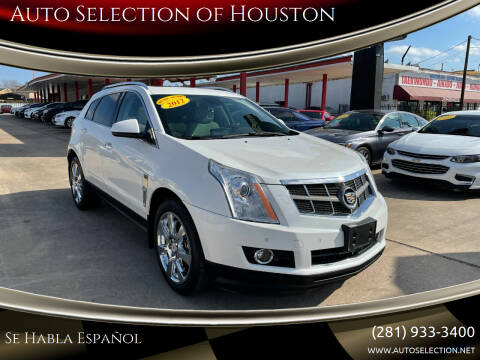 2012 Cadillac SRX for sale at Auto Selection of Houston in Houston TX