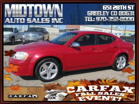 2013 Dodge Avenger for sale at MIDTOWN AUTO SALES INC in Greeley CO