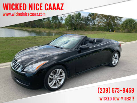 2009 Infiniti G37 Convertible for sale at WICKED NICE CAAAZ in Cape Coral FL