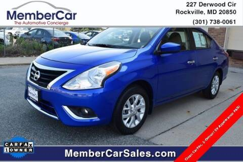 2015 Nissan Versa for sale at MemberCar in Rockville MD