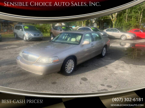 2003 Lincoln Town Car for sale at Sensible Choice Auto Sales, Inc. in Longwood FL