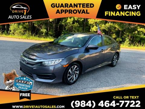 2016 Honda Civic for sale at Drive 1 Auto Sales in Wake Forest NC