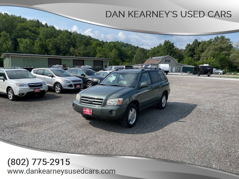 2006 Toyota Highlander for sale at DAN KEARNEY'S USED CARS in Center Rutland VT