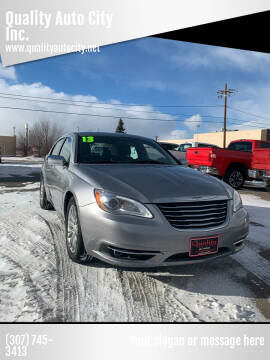 2013 Chrysler 200 for sale at Quality Auto City Inc. in Laramie WY