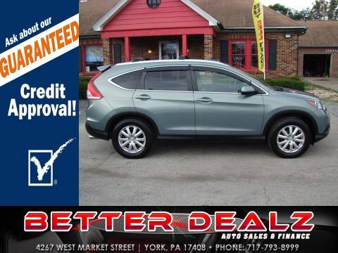 2012 Honda CR-V for sale at Better Dealz Auto Sales & Finance in York PA