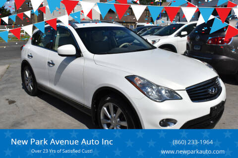 2013 Infiniti EX37 for sale at New Park Avenue Auto Inc in Hartford CT