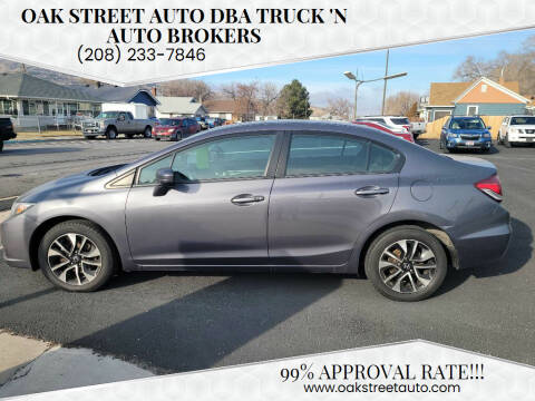 2014 Honda Civic for sale at Oak Street Auto DBA Truck 'N Auto Brokers in Pocatello ID